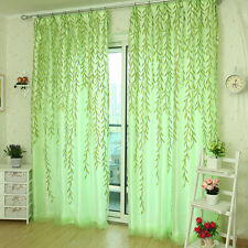 Willow Tulle Door Window Curtain Drape Panel Sheer Scarf Valances Gardinen DE