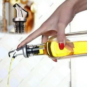 Kitchen Olive Oil Vinegar Dispenser Cruet Bottle Pourer Cook Spout Household