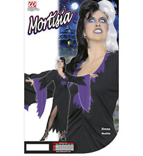 Mortisia Gown Goth  XL Witch Morticia Adams Family Hail Satan UK 16 Dress