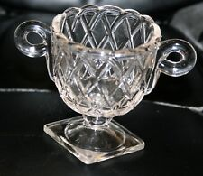 Vintage Indiana Glass Crystal Pretzel Sugar Bowl Excellent 4 Available!