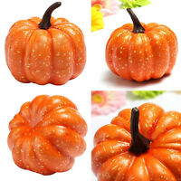 2Pcs Plastic Yellow Pumpkin Large Vegetable Creative Party Decorative BDSEATAU