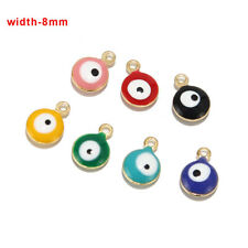 20pcs Stainless Steel Enamel Charms Evil's Eye Pendents for diy Jewelry Making