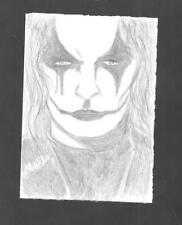 The Crow Pencil Sketch Card