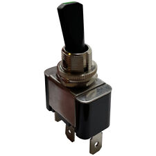 """Green Heavy Duty LED Illuminated On Off Metal Toggle Switch 30 Amp 12 V Fit 1/2"""""""