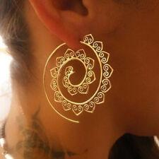 Moda Donna Vintage a spirale a forma di cuore ciondola gli orecchini d'oro D6A3