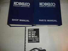 Kobelco SK100 HYD Excavator Factory SHOP MANUAL PARTS OPERATORS Catalog Service