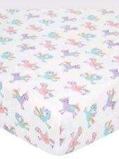 Unicorns & Rainbows Single Fitted Bed Sheet Girls Kids Bedding Undersheet