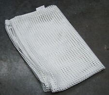 NEW - Unissued Army White Cotton Mesh Laundry Bag - Drawstring Neck