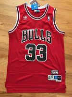 Scottie Pippen #33 Chicago Bulls Red Hardwood Throwbacks Mens Jersey