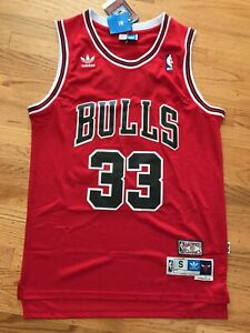 Scottie Pippen #33 Chicago Bulls Red Hardwood Throwbacks Mens Jersey