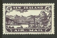 NEW ZEALAND 1931 AIRMAIL 4d PURPLE 1v MINT