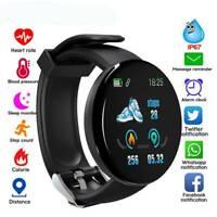 D18 Smart Watch Men Women Heart Rate Blood Oxygen Pressure Fitness Bracelet