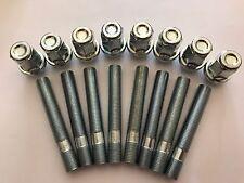 16 x M12X1.5 Nero Cerchi in lega borchie borchie di conversione 75 mm per BMW 72.6