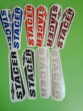 STACER BOAT STICKERS  20CM LONG CHOOSE YOUR COLOR You get one pair