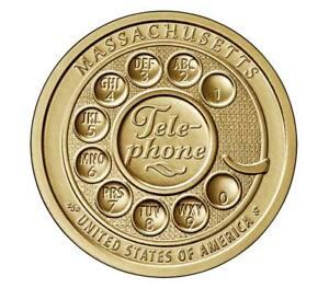 🇺🇸 New US Dollar coin USA $1, American Innovation Telephone Massachusetts 2020