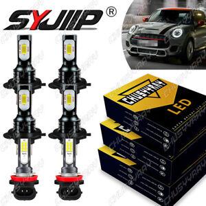 For Mini Cooper 2003 2004 2005 2006 2007 Combo Faros LED+Kit de luces antiniebla
