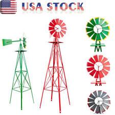 8Ft Ornamental Decorative Windmill Garden Weather Vane Yard Art Windmill