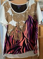 LYS Love Your Style Women's Plus Size 1X Blouse Shirt Top High Low