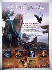 "PUBLICITE-ADVERTISING :  SONATA ARCTICA  2002 pour la sortie de ""Songs Of Silenc"