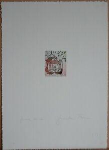 Giosetta Fioroni incisione acquaforte l'Orologio 35x25 firmata numerata Trina