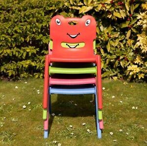 Plastic Kids Chairs Indoor Outdoor Garden Stackable Toddler Children Chair NEW