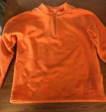 HANNA ANDERSSON ORANGE FLEECE PULLOVER SWEATER SHIRT 140 JACKET KIDS 10 CHILD
