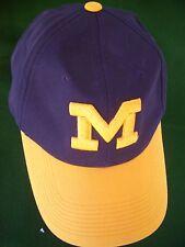 "MICHIGAN WOLVERINES OUTDOOR CAP W/ RAISED""M"" Logo Hat Cap Snap Back"