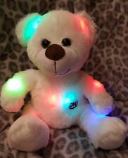 Teddybär LED Farbwechsel Kuscheltier Plüschbär Nachtlicht Eisbär Wei�Ÿ