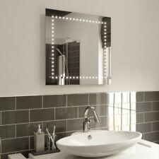 Illuminated Bathroom Mirror LED Wall Mounted Square Mirror Abby 60 x 60