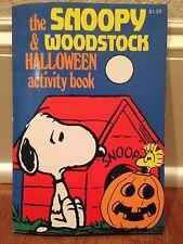 RARE! Vintage Peanuts SNOOPY Woodstock HALLOWEEN Activity Book 1980 Unused