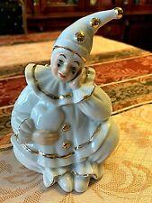 Monti Piero Porcelain Clown Figurine Designed in Spain. Signed.