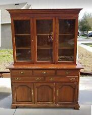 New listing Vintage HENKEL HARRIS Co. Inc China Cabinet Wild Black Cherry # 2319C, Furniture
