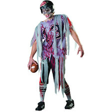 Adult Men's End Zone Zombie Football Fancy Dress Halloween Party Costume