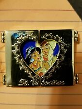 Disney M&P Valentine's Day Jasmine & Aladdin Hinged Japan LE Pin