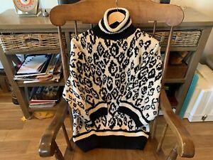 Vintage Wool Ski Sweater Unisex S