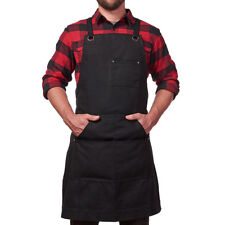 Waxed Canvas Work Apron Tool Adjustable Durable Woodworker Carpenter Mechanics