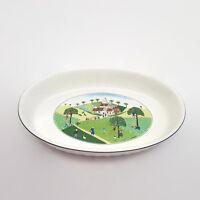 "Villeroy & Boch Design Naif Wedding Procession 13"" Oval Baker"