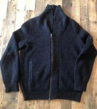 Banana Republic Full Zip Black Sweater-Jacket. Men's Large, Excellent!