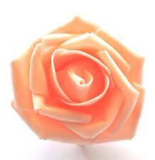 "SMALL 2.5"" Peach Foam Flower Hair Clip Wedding Bridesmaid Prom"