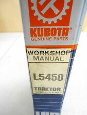 Kubota L5450 Tractor Workshop Service Manual  97897-11060  12/89