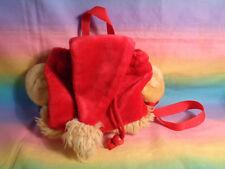 Disney Winnie the Pooh Bear Red Gold Plush Purse Bag Backpack