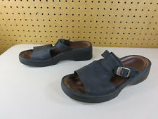 b519d5bf0 NAOT womens black open toe t-strap wedge buckle sandals 40 9.5 M EUC