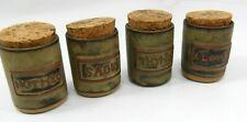 VINTAGE TREMAR UK Studio Pottery Earthenware Spice Pot Set