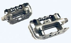 "Wellgo LU-982 MTB Platform Pedals Resin Body Steel Cage Toe Clip Comp  9/16"" K79"