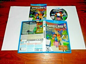 Minecraft: Wii U Edition Nintendo Wii U COMPLETE EXCELLENT WORKS PERFECTLY