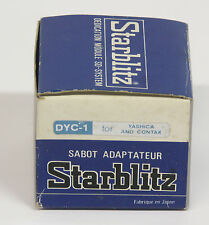 Starblitz Dedicated Shoe Adapter for Yashica/Contax 35mm cameras