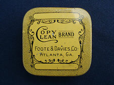 VINTAGE FOOTE & DAVIES COPY CLEAN TYPEWRITER RIBBON TIN ATLANTA GEORGIA GA.