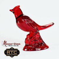 Mosser Glass Red Cardinal Bird Colliectible Figurine