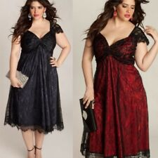 Plus Size Sexy Women V Neck Lace Dress Loose Ladies GOTHIC Dresses Clothing Hot