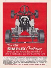 1960 Simplex Challenger Twin Engine Kart Ad/ Go-Kart
